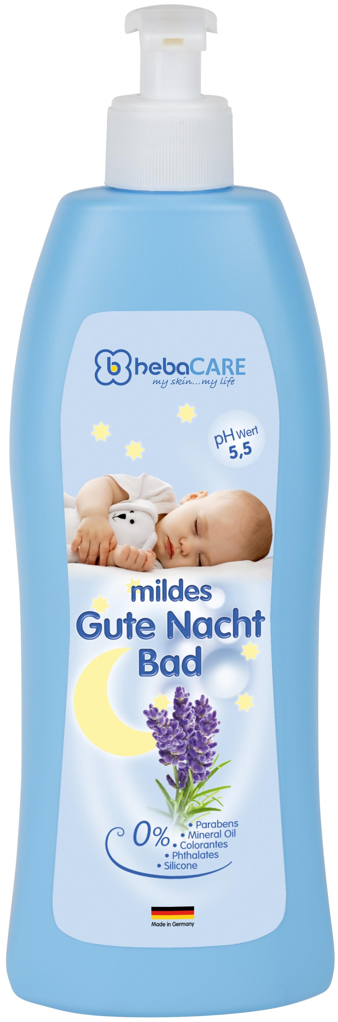hebaCARE Gute Nacht Bad sensitiv
